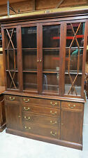 Henkel Harris China Cabinet Breakfront Mahogany
