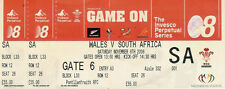WALES v SOUTH AFRICA 2008 RUGBY TICKET