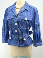 Marc by Marc Jacobs stretch cotton jacket Top light coat belted tie dye SZ 6 VTG