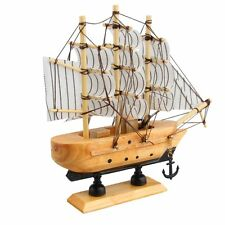 Wood Mini Miniature Model Interior Decoration Sailing Boat Ship Decor DIY Props