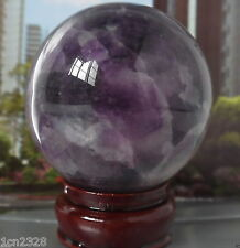 64MM +Stand Glow In The Dark Natural Purple Fluorite Magic Crystal Healing Ball