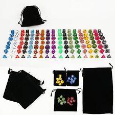 18 set 126pcs Polyhedral RPG game dice set  dice lot 4D 6D 8D 10D 12D 20D
