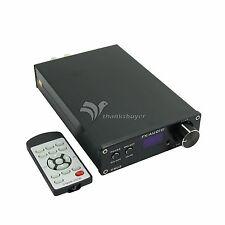 Audio D802 HIFI Digital Amplifier USB Optical Fiber Coaxial Input 192KHZ 80W*2