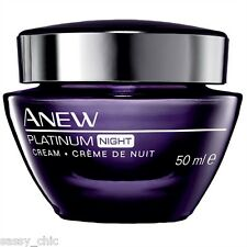AVON Anew Platinum Night Cream 50ml Anti ageing New & boxed (P)