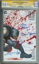 DARK KNIGHT III: THE MASTER RACE (DK3) #1 CGC 9.8 SS SIGNED FRANK MILLER ID 2938