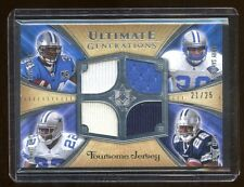 2008 ULTIMATE EMMITT SMITH-BARRY SANDERS-FELIX JONES-SMITH RC QUAD JERSEY /25