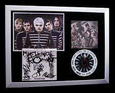 MY CHEMICAL ROMANCE+SIGNED+FRAMED+BLACK PARADE=100% GENUINE+EXPRESS GLOBAL SHIP