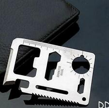 DICA Multi Tool 11in1 Hunting Survival Camping Pocket Military Credit Card Knife