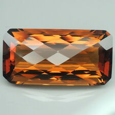 Brilliant!!! 42.25ct. Madeira~ Honey Orange Citrine Emerald&Checkerboard Table