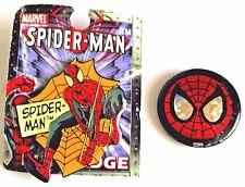 Spider-man Web And Spider-man Mask Metal Badge Set