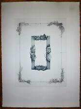 Titus-Carmel Gérard gravure originale signée datée 74 art abstrait abstraction