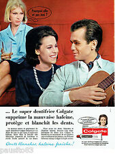 PUBLICITE ADVERTISING 026  1963  Colgate  dentifrice