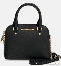 Nwt Michael Kors Black  Saffiano Leather XS  Cindy Crossbody Purse Bag