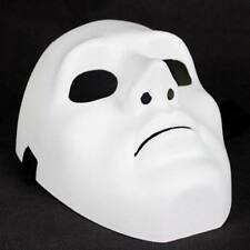 White Full Face Cosplay Halloween Party Costume Mask Theater Prop Creepy