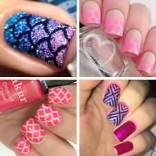 12Tips/Sheet Nail Art Manicure Stencil Stickers Stamping Vinyls Easy Use