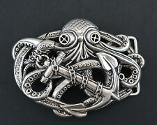 OCTOPUS BOAT ANCHOR  3D BELT BUCKLE FITS 1 1/2 INCH WIDE BELT STRAP NEW