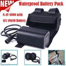 8.4V USB Rechargeable 8800mAh 6X18650 Battery Pack For Bicycle light Bike Torch