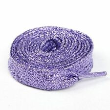 FLAT GLITTER COLOURED SHOE LACES CANVAS SNEAKER SHOELACES BOOTLACES