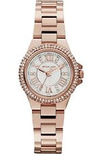 **NEW* LADIES MICHAEL KORS MINI CAMILLE ROSE GOLD CRYSTAL WATCH MK3253 -RRP £229