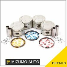 Fit 89-94 Suzuki Swift 1.3L DOHC 16-Valve G13B Piston Set w/ Rings