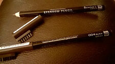 2 x Rimmel Professional Eyebrow Pencils with brush 004 Black Brown - New