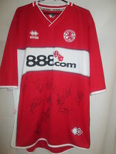 Middlesbrough 2011-2012 Squad Signed 05-06 Home Football Shirt with COA /22084