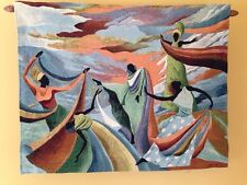 """African American Women Dancing Ivey Hayes Art 23""""x29"""" Tapestry Wall Hanging NEW"""