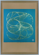 Signed Geometric Abstract Space BRAUN Age RAMS Screenprint Art Op DIETER retro 1