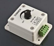 Manual Dimmer Switch for LED Strip Light, 12V 8A Mountable with Terminals HOT