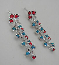 MODERNIST - VINTAGE  - ORECCHINI  PIETRE TURCHESI E C - EARRINGS TURQUOISE STONE