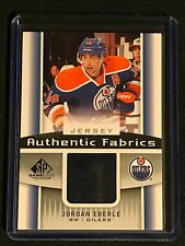 2013-14 UPPER DECK SP GAME USED JORDAN EBERLE JERSEY OILERS