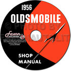 1956 Oldsmobile 88 and 98 Shop Manual on CD ROM 56 Olds Repair Service Super