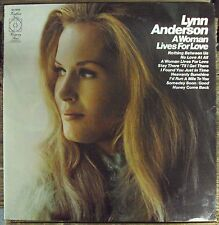 LYNN ANDERSON A Woman Lives For Love LP OOP early-70's country