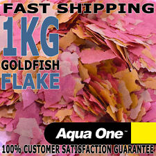 Aqua One Goldfish, Koi Aquarium Fish Tank Quality Flake Food Bulk 1kg Gold Fish