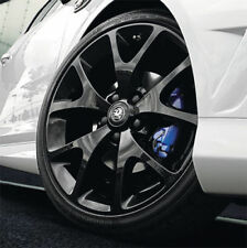 "VAUXHALL CORSA D 18"" VXR ALLOY WHEELS SET OF 4 IN BLACK GENUINE NEW 07-15"