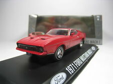 FORD MUSTANG MACH 1 1971 1/43 GREENLIGHT (RED)