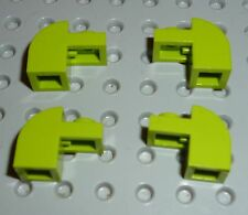 LEGO - BRICK MODIFIED 1 x 2 x 1 1/3 with Curved Top, LIME GREEN x 4 (6091) BM161