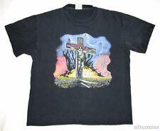 SLAYER Vintage T Shirt 90's Tour Concert 1991 THRASH METAL BAND Seasons Cities