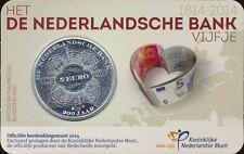 Niederlande 5 Euro 2014 Coincard Niederländische Bank