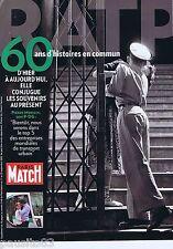 COUPURE DE PRESSE CLIPPING 2009  la RATP 60 ans   supplément Paris-Match