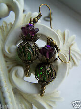 SCOTTISH THISTLE EARRINGS burns night Vintage Victorian Style Steampunk Bridal