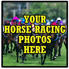 PERSONALISED COASTERS - OWN HORSE RACING PHOTO'S  - SET OF 4 COASTERS - GIFT NEW