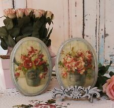 "~ A set of 2 ""Fleurs"" ~ Shabby Chic ~ Country Cottage style ~ Wall Decor Sign ~"