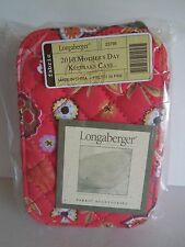 LONGABERGER~MOTHER'S DAY KEEPSAKE CASE~PRETTY IN PINK~ZIPPERED JEWELRY CASE~BNIP