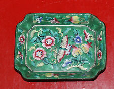 A C19th Chinese Cloisonne, enamel on copper small rectangular butterfly dish