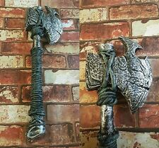 Barbarian Bone Axe 2 Handed Foam Fantasy Medieval Viking LARP CosPlay Stage