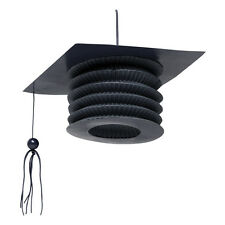 4 Black Graduation Hanging Mortar Board Hat Lanterns Graduation Party Decoration