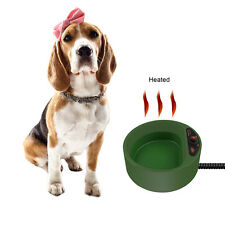 Thermal Electric Pet Water Bowl Dog Cat Dish Waterer Thermos Outdoor Heat Heater
