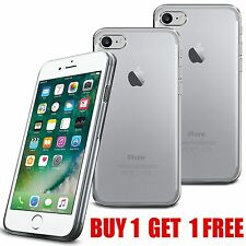 For Apple Iphone 7 - Tough Thin Clear TPU Gel Case Cover - Pack of 2