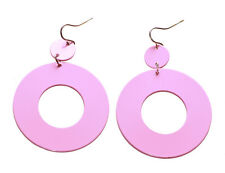 Gorgeous 80's Inspired & Fabulous Baby Pink /easy Hook Earrings(A13/zx174)